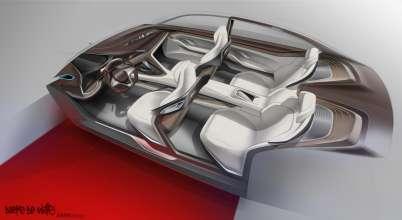 BMW Vision Future Luxury. Sketch. Interior (04/2014).