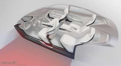 BMW Vision Future Luxury. Skizze. Interior. Carbon structur (04/2014).