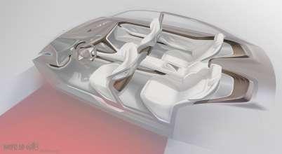 BMW Vision Future Luxury. Sketch. Interior. Wooden detail (04/2014).