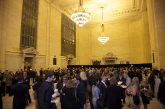 BMW cocktail reception before a Munich Philharmonic orchestra concert in Grand Central Station, New York City on Thursday, April 10, 2014.