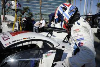 11.04.2014 to 12.04.2014, Tudor United Sportscar Championship 2014, Tequila Patron Sports Car Showcase, Long Beach, CA (USA). Dirk Müller (DEU), No 56, BMW Team RLL, BMW Z4 GTE. This image is Copyright free for editorial use © BMW AG