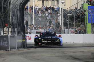 11.04.2014 to 12.04.2014, Tudor United Sportscar Championship 2014, Tequila Patron Sports Car Showcase, Long Beach, CA (USA). Bill Auberlen (USA), Andy Priaulx (GBR), No 55, BMW Team RLL, BMW Z4 GTE. This image is Copyright free for editorial use © BMW AG