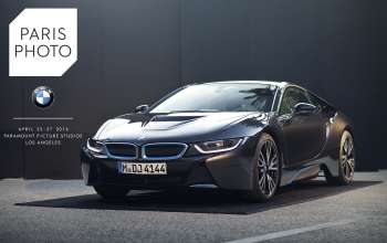 As an official partner of Paris Photo LA, BMW displays its i8, the worlds most forward looking sports car made out of carbon fiber. The fair takes place from April 25-27, 2014 at Paramount Pictures Studios. (04/2014)