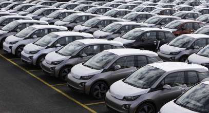 05-02-2014Hundreds of the all new, fully electric BMW i3 vehicles are ready for customer delivery at the Port Jersey Vehicle Distribution Center in Jersey City, New Jersey on Friday, May 2, 2014.  (05/2014)