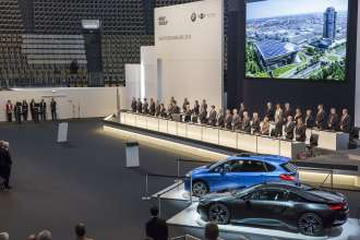 94th Annual General Meeting of BMW AG at Olympiahalle Munich on 15th May 2014.