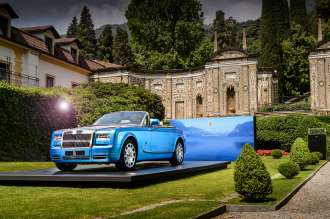 ROLLS-ROYCE PHANTOM DROPHEAD COUPÉ WATERSPEED COLLECTION ARRIVES AT SPIRITUAL HOME IN THE ITALIAN LAKES