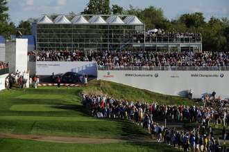 The all new BMW M5 was featured on the 17th Hole as one of two hole-in-one vehicle's during the 2012 BMW Championship, contested at Crooked Stick Golf Club in Carmel, IN.  (05/2014)