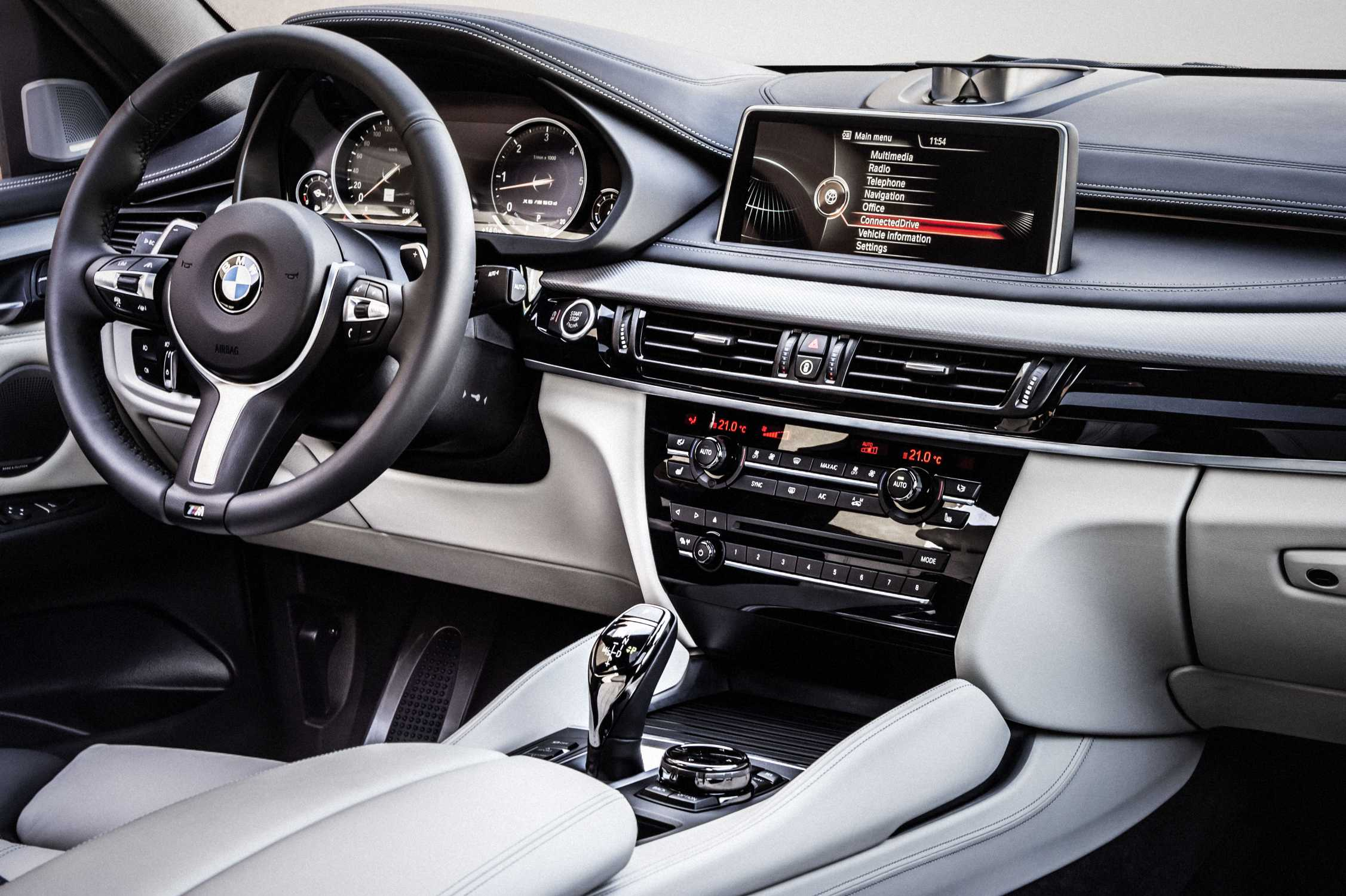 the new bmw x6 m50d bicolour leather nappa with extended contents