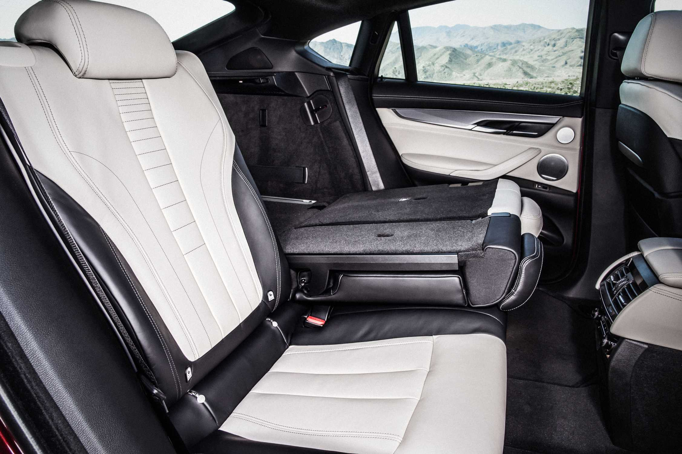 The New Bmw X6 M50d Bicolour Leather Nappa With Extended Contents Ivory White Black Interior