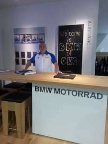 AC Spencer, General Manager, at the newly opened BMW Motorcycles of Oklahoma City. (05/2014)