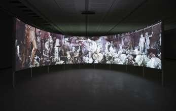 """CLEMENS VON WEDEMEYER, Afterimage, 2013. Installationsansicht """"The Cast"""". Foto: Matteo Monti (MAXXI), Courtesy Galerie Jocelyn Wolff, Paris; KOW, Berlin (06/2014)"""
