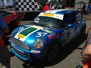 Tyler Palmer's 2012 MINI Cooper Hardtop owned by MINI of Charleston Racing, the same MINI that was driven to the 2013 Pirelli World Challenge Championship last season by Robbie Davis. (05/2014)