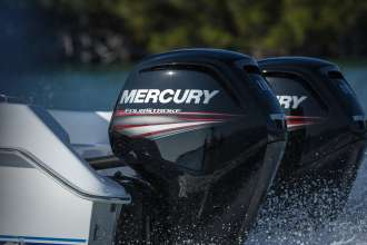 Mercury Marine FourStroke 115hp engine designed by BMW Group DesignworksUSA in use. (06/2014)