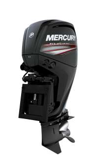 Mercury Marine FourStroke 115hp engine designed by BMW Group DesignworksUSA side view. (06/2014)