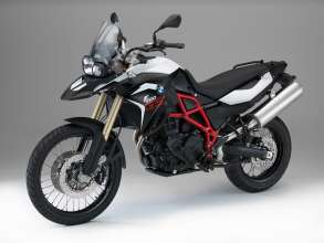 BMW F 800 GS, Light white / Black storm metallic (07/2014)