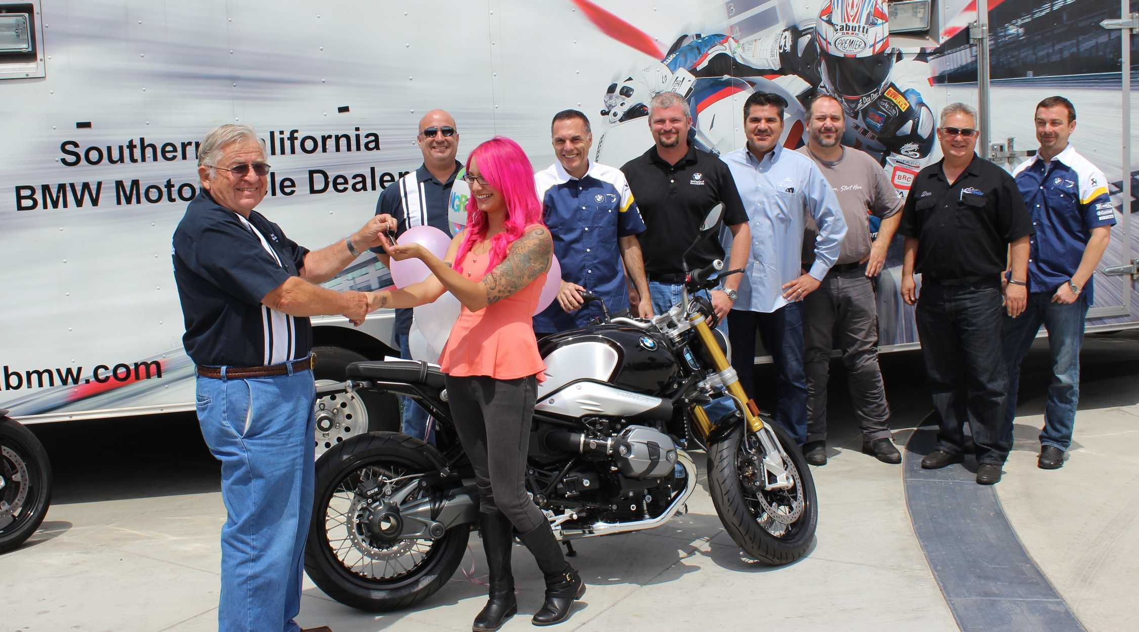 santa ana resident is lucky winner of first socal bmw motorcycle