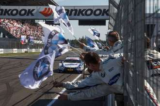 Moscow (RU) 13th July 2014. BMW Motorsport, Winner Maxime Martin (BE) SAMSUNG BMW M4 DTM. The is image is copyright free for editorial use © BMW AG (07/2014).