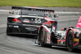 11.07.2014 to 13.07.2014, Tudor United Sportscar Championship 2014, Mobil 1 Sportscar Grand Prix Presented by Hawk Performance, Canadian Tire Motorsports Park, Bowmanville, Ontario (CAN). Bill Auberlen (USA), Andy Priaulx (GBR), No 55, BMW Team RLL, BMW Z4 GTE. This image is Copyright free for editorial use © BMW AG