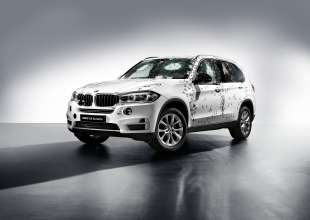 BMW X5 Security Plus after shot attack (07/2014)