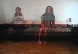 BMW Tate Live 2014 Performance Room. Selma & Sofiane Ouissi, Here(s), 2011-2012, stills from Skype video call projection © the artists (07/2014)