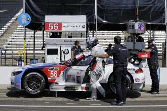 24.07.2014 to 25.07.2014, Tudor United Sportscar Championship 2014, Brickyard Grand Prix, Indianapolis Motor Speedway, Indianapolis, Indiana (USA). Dirk Müller (DEU), John Edwards (USA), No 56, BMW Team RLL, BMW Z4 GTE. This image is Copyright free for editorial use © BMW AG