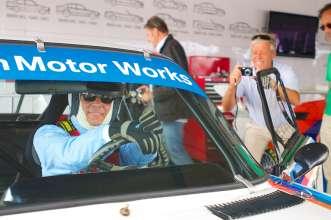 BMW NA CEO Ludwig Willisch Races BMW CSL at Rolex Monterey Motorsports Reunion. (08/2014)