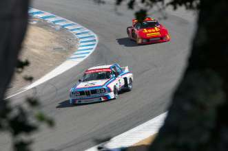 BMW NA CEO Ludwig Willisch Races BMW CSL at Rolex Monterey Motorsports Reunion. (08/2014)