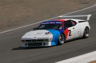 The BMW M1 IMSA Group 4 race car appears at Legends of the Autobahn, 2014. (08/2014)