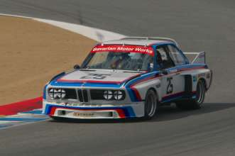 The Sebring-winning 1975 BMW 3.0 CSL appears at Legends of the Autobahn, 2014. (08/2014)