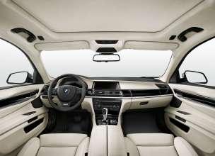 BMW 7 Series Saloon/Sedan Long version - Interior, Fine-grain Merino leather Platinum - Interior trim, Piano Finish Black with inlay - Edition Exclusive (08/2014)