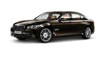 BMW Individual 7 Series Saloon/Sedan Long version - 760Li - Citrine Black metallic - Light-alloy wheels V-spoke 301 l (08/2014)