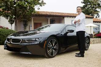 On August 15, 2014 during the Pebble Beach Concours d'Elegance, the worlds premier celebration of the automobile, renowned Chef Thomas Keller was among the first exclusive owners to take delivery of the all-new BMW i8, a revolutionary plug-in hybrid sports vehicle, at the BMW Villa in Pebble Beach, CA.