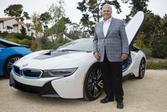 On August 15, 2014 during the Pebble Beach Concours d'Elegance, the world's premier celebration of the automobile, Rick Hendrick, Founder of the Hendrick Automotive Group & Hendrick Marrow Program, was among the first exclusive owners to take delivery of the all-new BMW i8, a revolutionary plug-in hybrid sports vehicle, at the BMW Villa in Pebble Beach, CA.