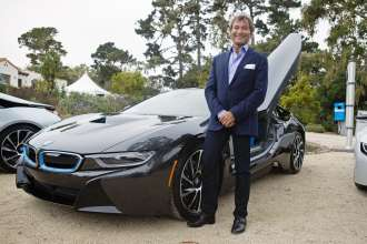 On August 15, 2014 during the Pebble Beach Concours d'Elegance, the world's premier celebration of the automobile, Patrick Wachsberger, Co-Chairman of Lionsgate Motion Picture Group, was among the first exclusive owners to take delivery of the all-new BMW i8, a revolutionary plug-in hybrid sports vehicle, at the BMW Villa in Pebble Beach, CA.
