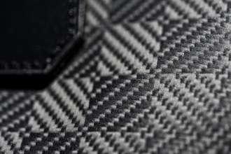 "The tailor-made ""Garment Bag i8"" made from carbon fibre. (08/2014)"