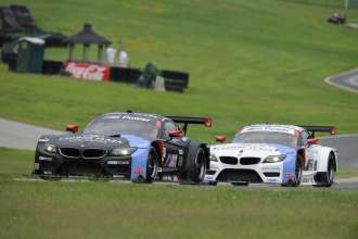 22.08.2014 to 24.08.2014, Tudor United Sportscar Championship 2014, Oak Tree Grand Prix at VIR, Virginia International Raceway, Danville, VA (USA). Bill Auberlen (USA), Andy Priaulx (GBR), No 55, BMW Team RLL, BMW Z4 GTE. Dirk Müller (DEU), John Edwards (USA), No 56, BMW Team RLL, BMW Z4 GTE. This image is Copyright free for editorial use © BMW AG