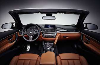 BMW M4 Convertible, BMW Individual Moonstone metallic, Interior in BMW Individual full leather trim Merino fine-grain Amaro Brown, Interior BMW Individual trim finishers piano finish black. (08/2014)