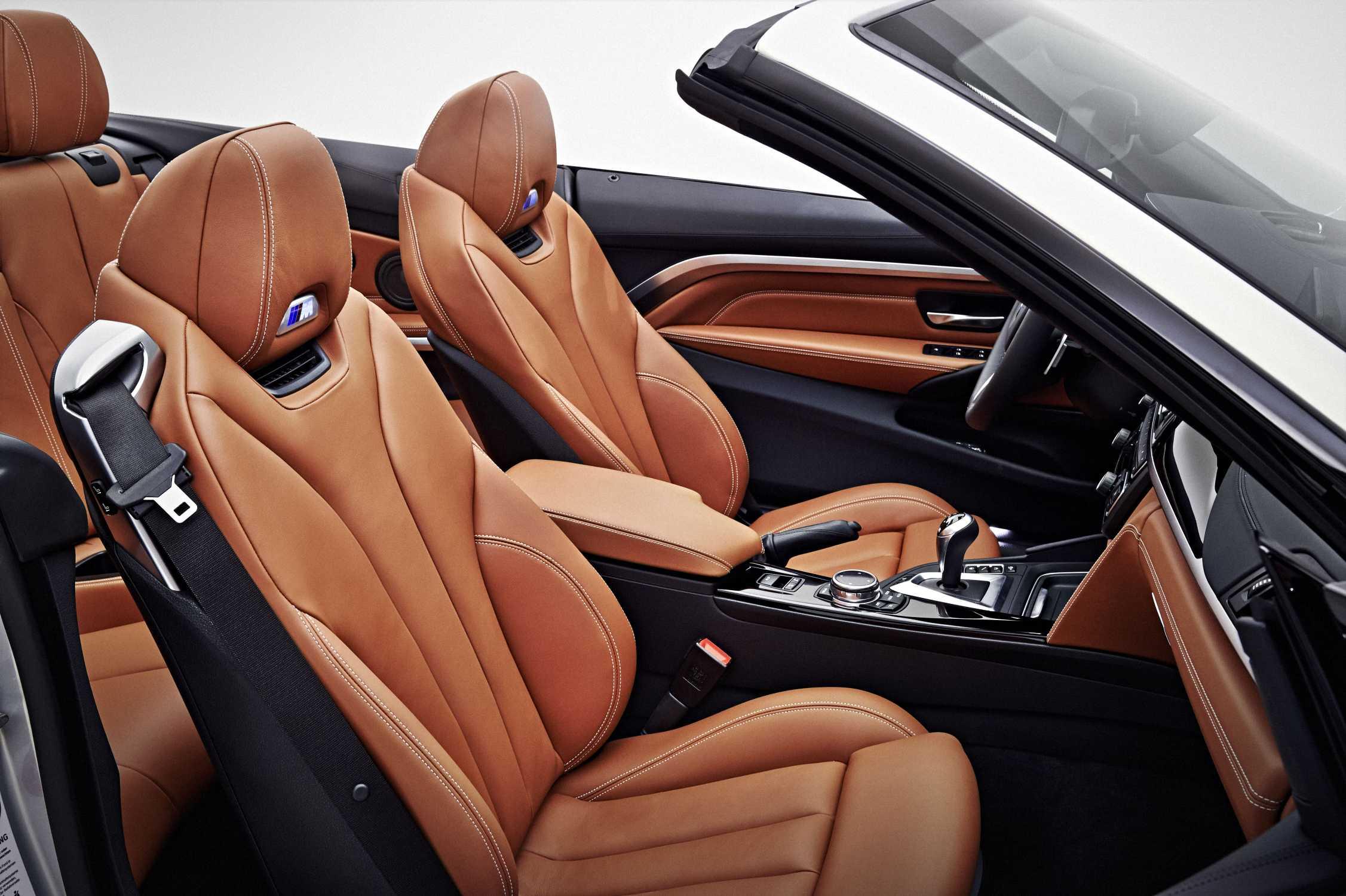 Bmw M4 Convertible Bmw Individual Moonstone Metallic Interior In Bmw Individual Full Leather
