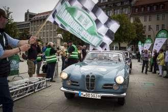 BMW Group Classic auf der Rallye Hamburg-Berlin 2014, BMW 503, Team Stiftung Kinderherz, (08/2014)