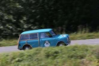 BMW Group Classic auf der Rallye Hamburg-Berlin 2014, Mini Traveller, (08/2014)