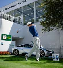 2013 BMW Championship winner Zach Johnson attempted to recreate Arnold Palmer's historic drive from the 1960 U.S. Open at Cherry Hills Country Club's 1st tee to kick-off the 2014 BMW Championship, using a replica Persimmon driver with a steel shaft and wood head from the same era. BMW made an additional $10,000 donation to the Evans Scholars Foundation, which grants full college scholarships to young deserving caddies of financial need. Since BMW became title sponsor in 2007, the tournament has raised more than $16 million for the Evans Scholars Foundation. (09/2014)