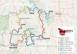 BMW Motorrad International GS Trophy North America 2014, routes (09/2014)
