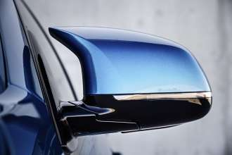 The new BMW X6 M. Signature M Exterior Mirror in Twin-Stalk Style.(10/2014)
