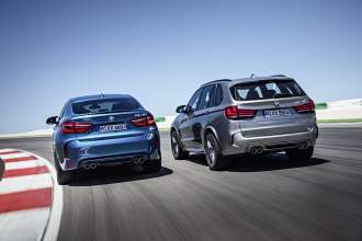 The new BMW X5 M and the new BMW X6 M.(10/2014)