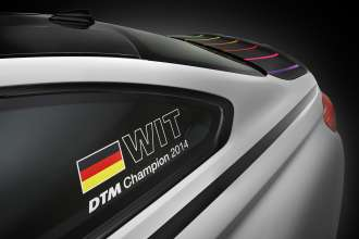 BMW M4 DTM Champion Edition. Images include not only standard equipment but also options and accessories. (10/2014)
