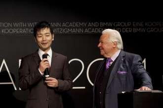 ECKART 2014, BMW Museum: Shuzo Kishida (ECKART für Innovation),  Eckart Witzigmann (v. l. n. r.) (10/2014)