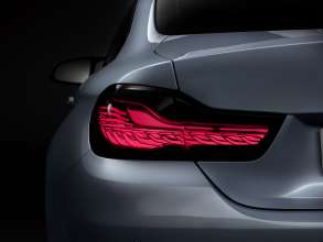 BMW M4 Concept Iconic Lights, BMW Organic Light, Drive Mode and Brake Light (01/2015)