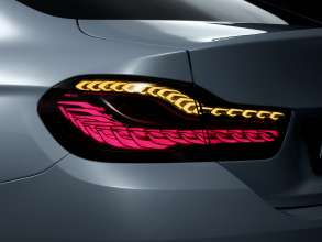 BMW M4 Concept Iconic Lights, BMW Organic Light, Drive Mode and Indicator (01/2015)