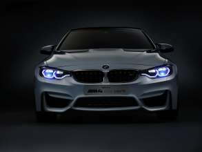 BMW M4 Concept Iconic Lights, Daytime Running Light, Low Beam and Laserlight (01/2015)