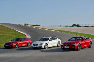 The new BMW 6 Series Coupe (left), the new BMW 6 Series Gran Coupe (middle) and the new BMW 6 Series Convertible (right). (12/2014)